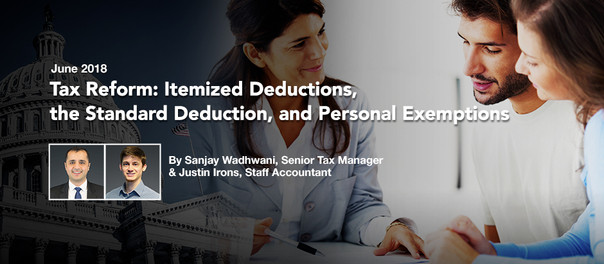 Tax Reform: Itemized Deductions, the Standard Deduction and Personal Exemptions