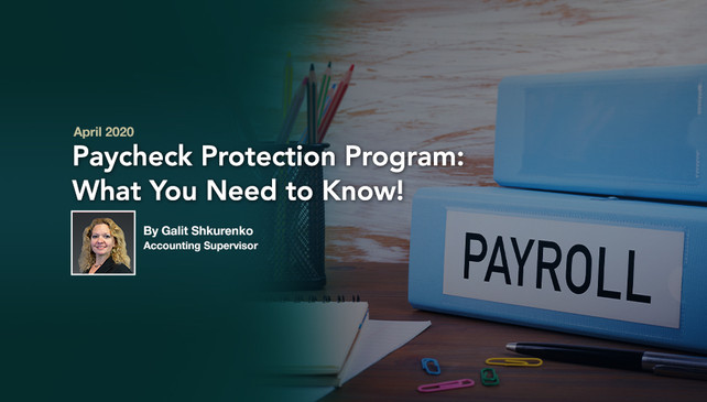 Paycheck Protection Program – What You Need To Know!