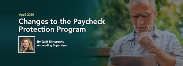 Changes to the Paycheck Protection Program