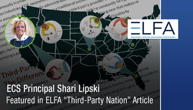"ECS Principal Shari Lipski Featured in ELFA ""Third-Party Nation"" Article"