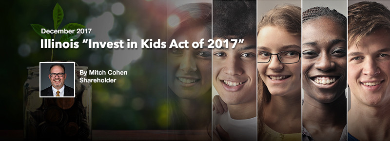 "ECS December Newsletter: Illinois ""Invest in Kids Act of 2017"""