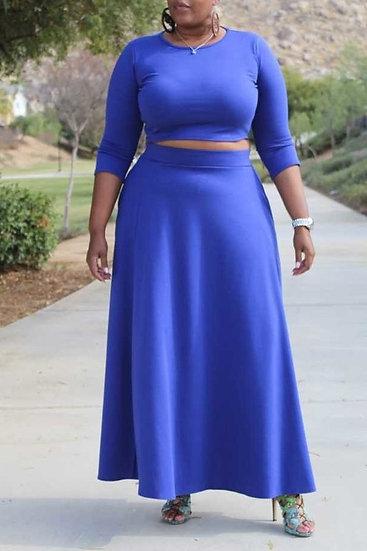Plus Crop Skirt Set (PS1)