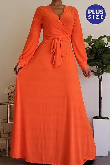 Plus Orange Maxi Dress