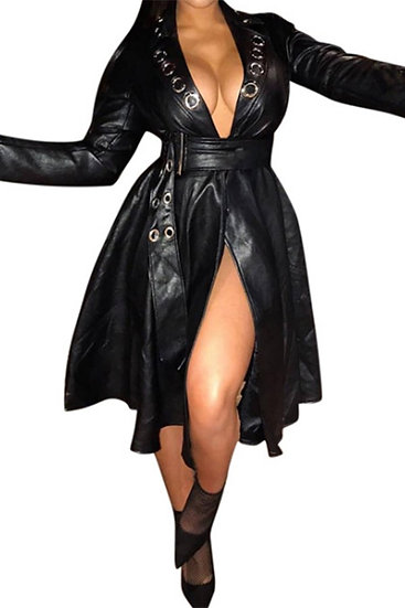 Leather Trench Jacket