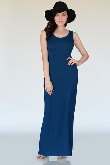 Navy Simple Maxi Dress