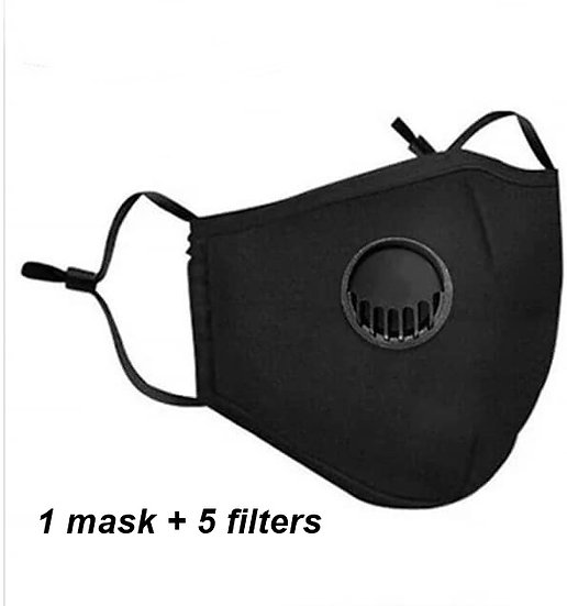 Respirator Face Mask plus Filter ( more colors)