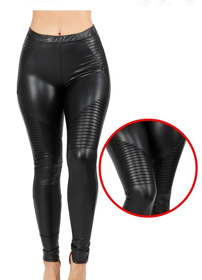 Faux Leather Detailed Lefggings
