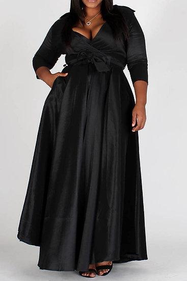 Plus Black Maxi Dress
