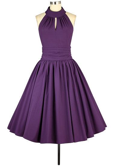 D054 Plus Purple Dress