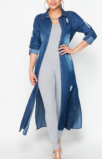 Denim Duster Dress