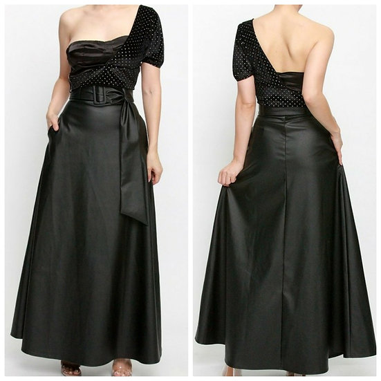 Blair Faux Leather Skirt