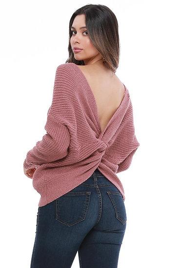 Mauve Twisty Sweater (plus)