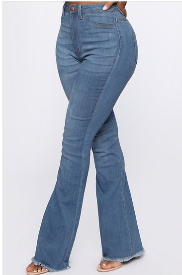 Wide Leg Denim Jeans