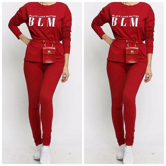 BLM Pants Set