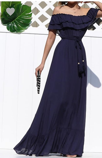 Navy Blue Maxy Dress