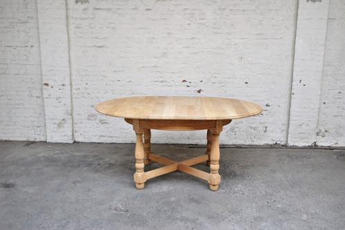 Ronde uitschuifbare tafel 168 120 x 77