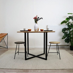 kruk roc eik en staal ronde tafel kruisp