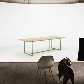 designtafel dali groen eiken tafels simo