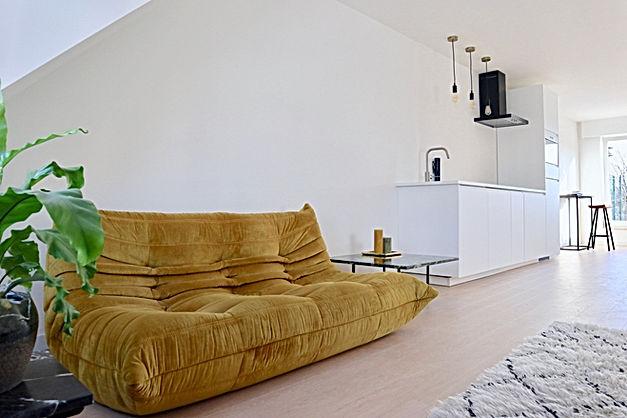 vastgoedstyling homestaging inrichting ligne roset togo oker