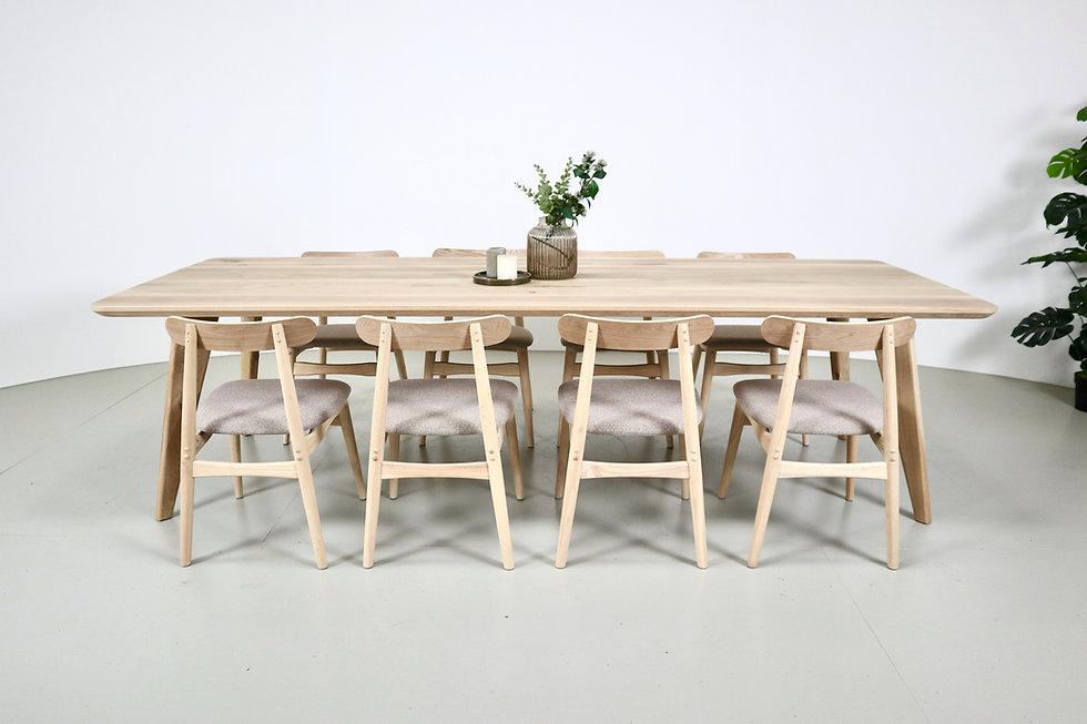 handgemaakte eiken tafel ida scandinavis