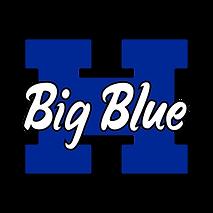 Blue H - Black Outline - White Script -