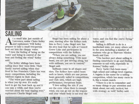 High School Sailing covered in SM South Patriot Newspaper