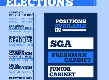 Student Leader Election Results Fall 2018