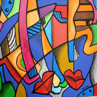 Original Acrylgemälde auf Leinwand.  Technik / Material: Abstrakt / Acryl  Größe: 50 x 50 x 4 cm  Hangemaltes Unikat. Die Gemälde sind von mir signiert und auf das Jahr datiert. Zum Schutz der Farben wurde ein Abschlußfirnis aufgetragen. Ich bitte zu berücksichtigen dass die Farben des Originals technisch bedingt von dem auf dem Bildschirm zu sehenden Foto leicht abweichen können.  Preis auf Anfrage: service@rastystone.com