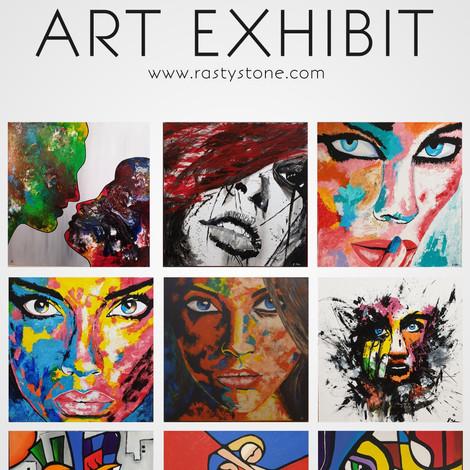 Kunstausstellung im Atelier