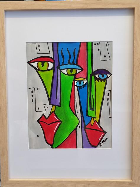 Original Acrylgemälde auf Papier im Rahmen.  Technik / Material: Abstrakt / Acryl  Größe: 43 x 34 x 2 cm  Handgemaltes Unikat. Die Gemälde sind von mir signiert und auf das Jahr datiert. Zum Schutz der Farben wurde ein Abschlußfirnis aufgetragen. Ich bitte zu berücksichtigen, dass die Farben des Originals technisch bedingt von dem auf dem Bildschirm zu sehenden Foto leicht abweichen können.  Preis auf Anfrage: service@rastystone.com