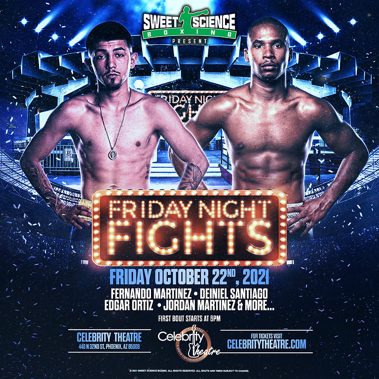 FRIDAY NIGHT FIGHTS              : presented by Sweet Science Boxing
