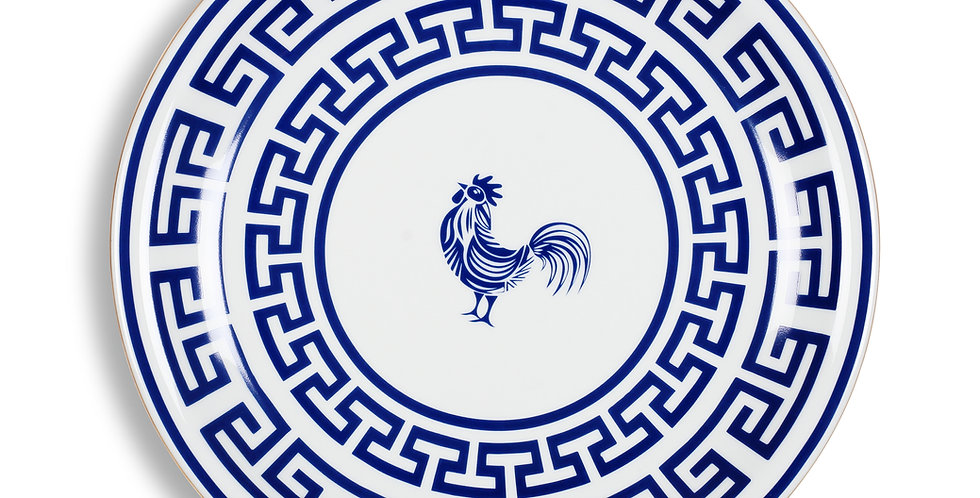 Lucky Rooster Collection Blue 28 cm Servis Tabak (Supla)