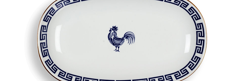 Lucky Rooster Collection Blue 29 cm Servis Tabak