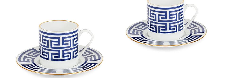 Lucky Rooster Collection Blue 2'li Türk Kahve Fincan Set Kopyası