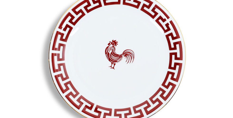Lucky Rooster Collection Red 18 cm Ekmek Tabak