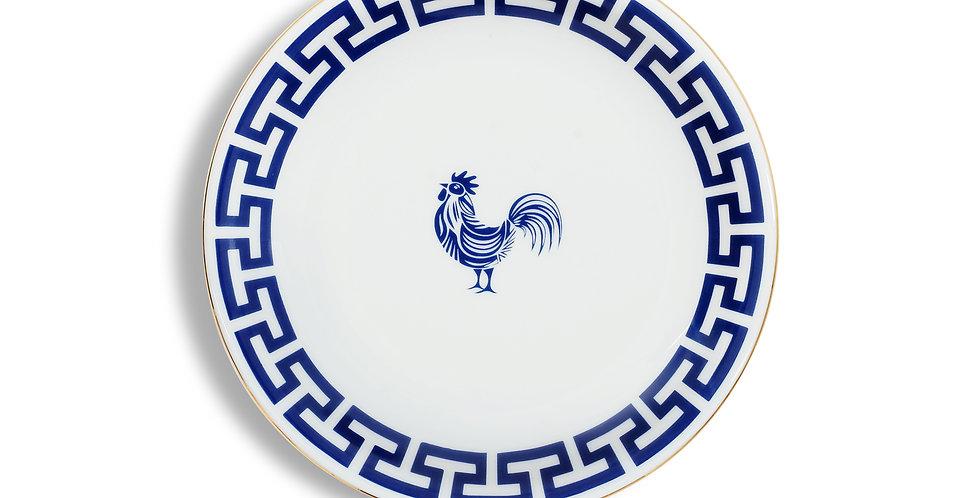Lucky Rooster Collection Blue 18 cm Ekmek Tabak