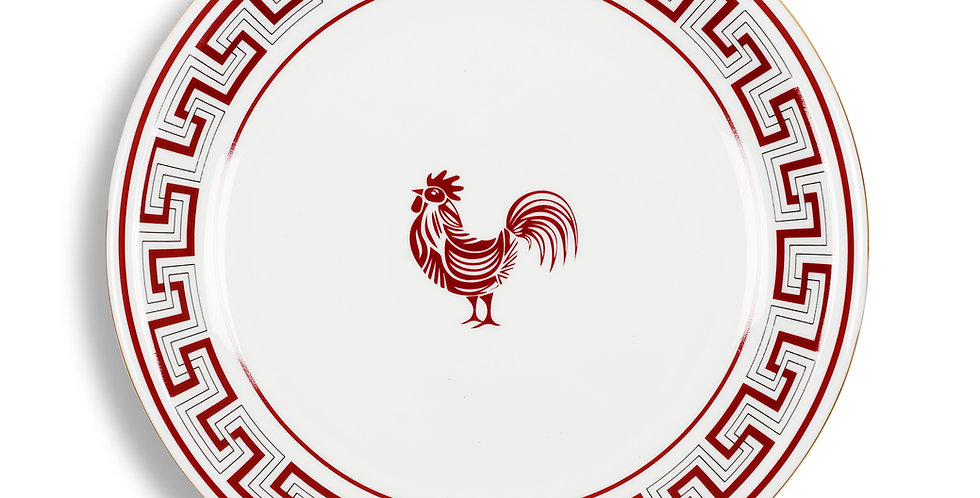 Lucky Rooster Collection Red 24 cm Servis Tabak (Supla)