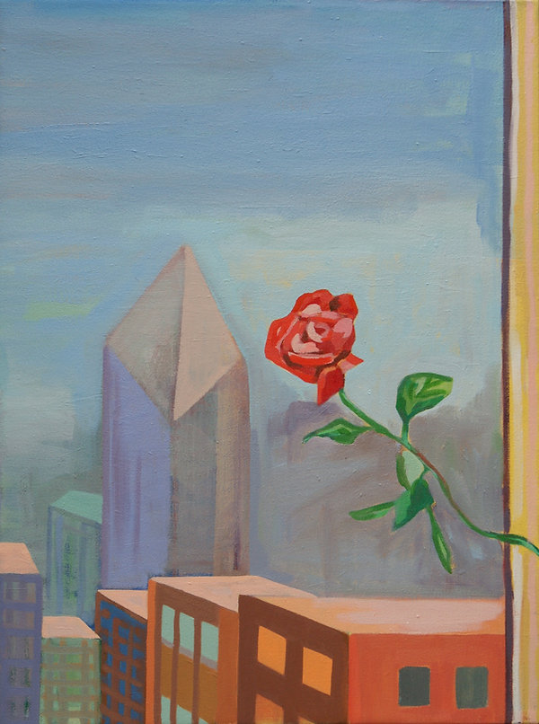Chicago Rose Oil 18 x 24 Copyright 2019
