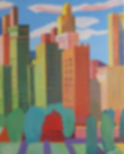 View From Grant Park Acrylic 24 x 30 Cop