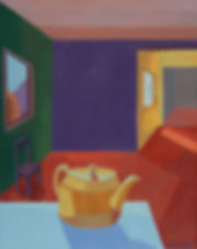 Interior with Teapot Acrylic 16 x 20 Cop