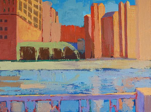 City Sparkle oil 24 x 18 Copyright 2013