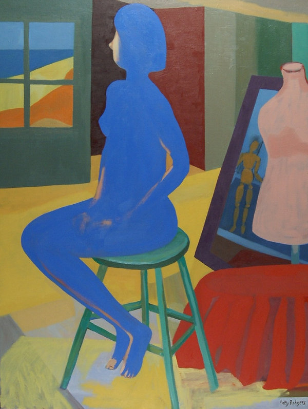 Rodgers P. Blue Nude 2 Oil 30 x 40 copyr
