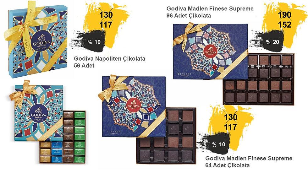 Bayram hediyelik çikolata Godiva