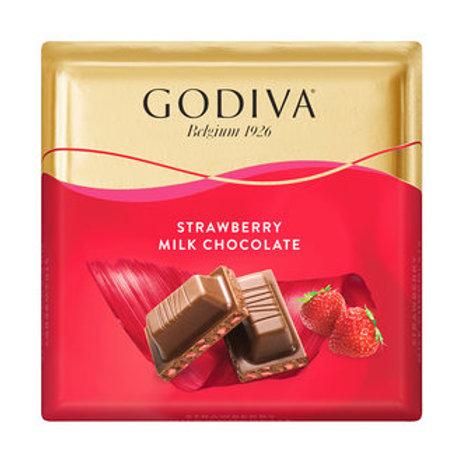 Godiva Çilek Parçacıklı Sütlü Çikolata Kare 60 G