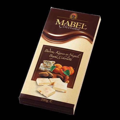 Mabel Badem, Kayısı ve Nugalı Beyaz Çikolata 200 gr 1 adet