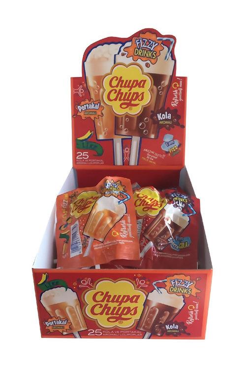 Chupa Chups 3D Fizzy Drinks 25'li x 15 gr