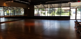 Large open space for mat class!