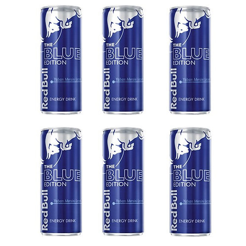 Red Bull Blue Edition Yabanmersini 250 ml*6 adet