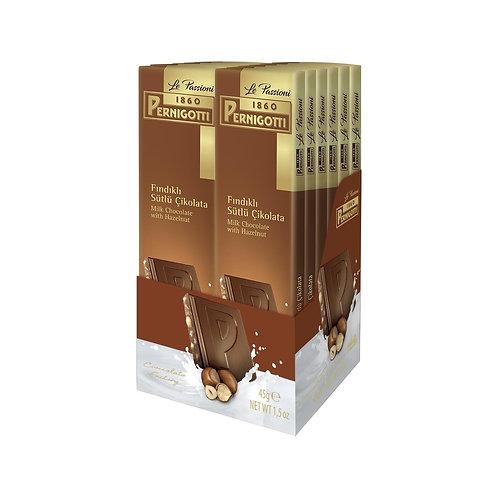 Pernigotti Sütlü Fındıklı Tablet Çikolata 45 gr - 12 Adet