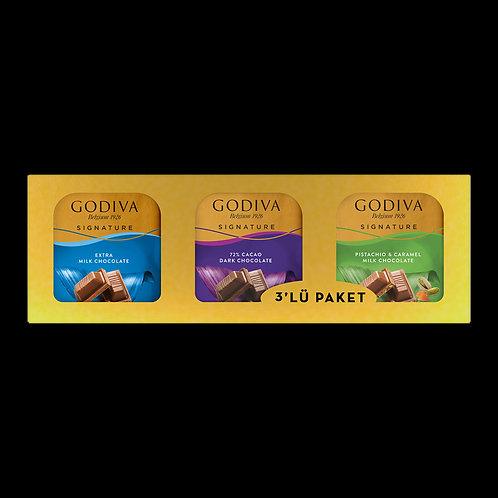 Godiva Signature Kare Çikolata 3'lü 180 Gr